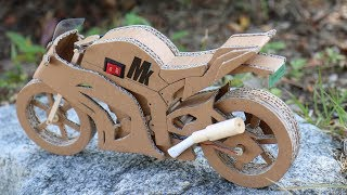 Video How To Make Toy Motorcycle(Ninja ZX -10R) - Amazing Cardboard DIY download MP3, 3GP, MP4, WEBM, AVI, FLV Agustus 2018