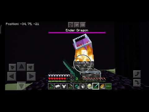 Minecraft Melawan Ender Dragon Youtube
