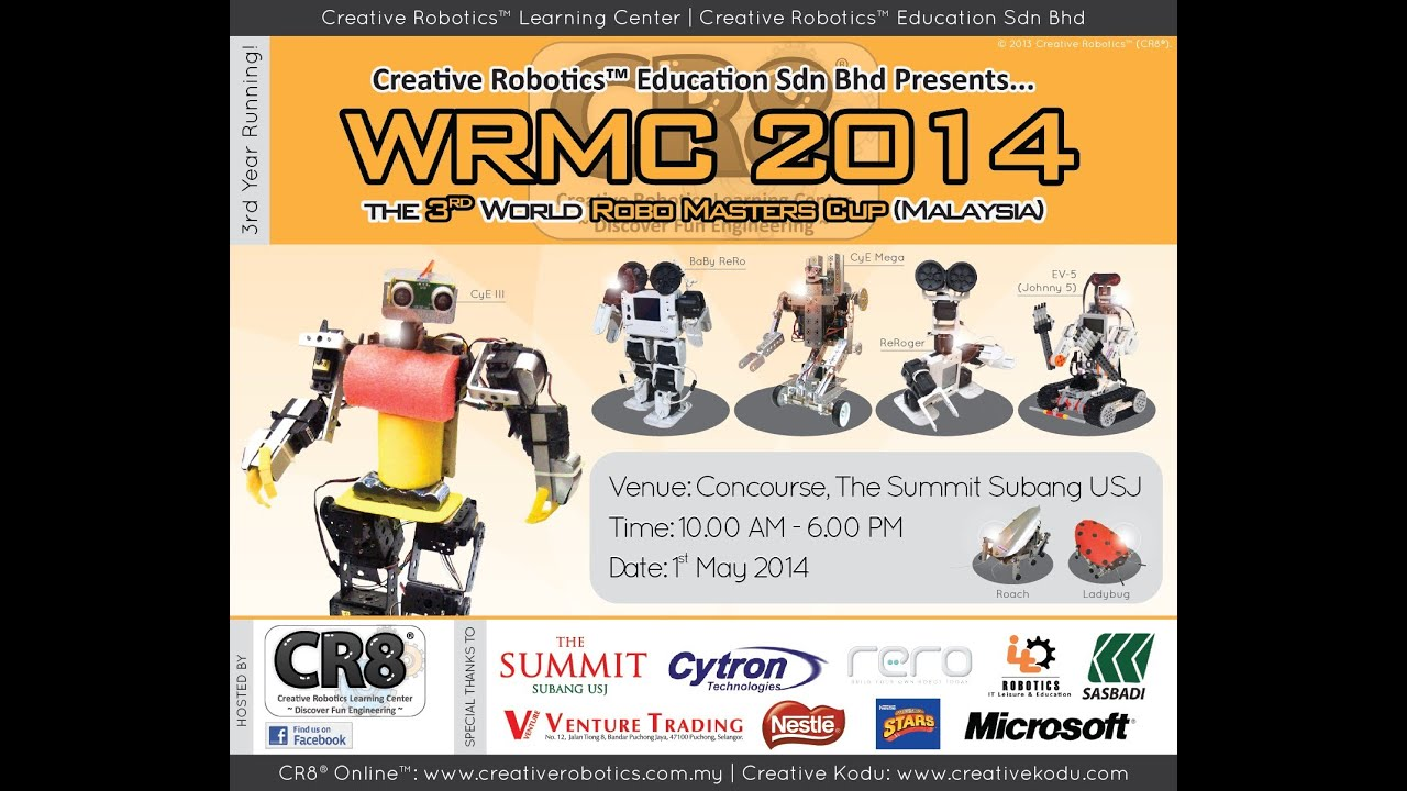 Wrmc My World Robo Masters Cup Malaysia 2014 By Cr8 The Sights