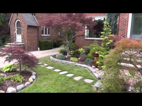 The Summer Garden - Japanese maple garden  (Front yard and Bonsai)