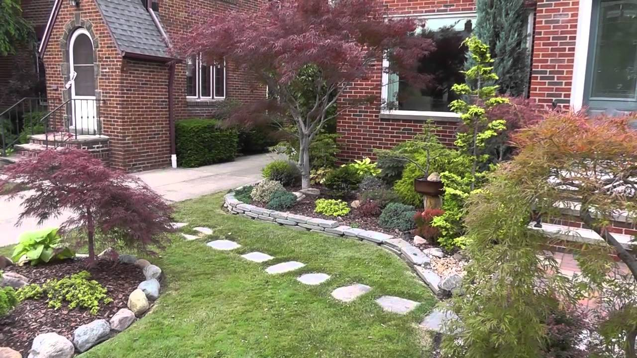 the summer garden japanese maple garden front yard and bonsai