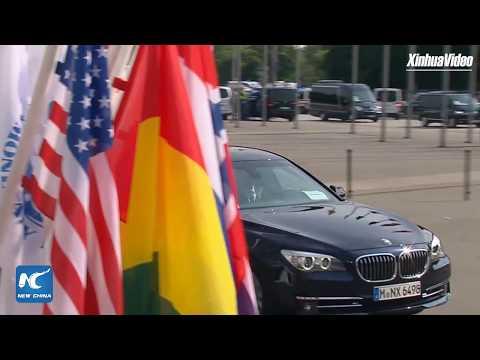 French President Emmanuel Macron arrives for G20 summit