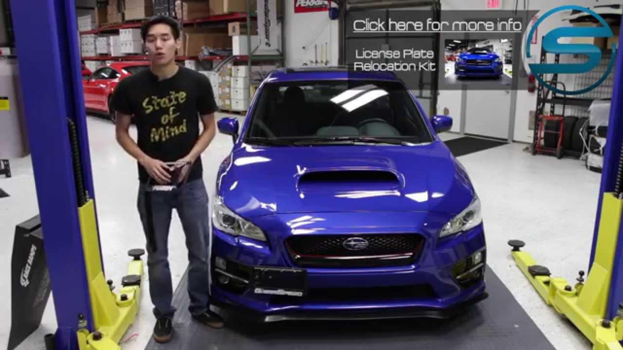 2019 Subaru Wrx >> Subispeed - 2015 WRX & STI License Plate Relocation Kit Comparison - YouTube