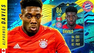 THE CANADIAN SENSATION!! 86 MOMENTS ALPHONSO DAVIES REVIEW!! FIFA 20 Ultimate Team