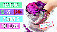 TESTING THE HIGHEST AND LOWEST RATED SLIME INGREDIENTS! $1 VS $200 SLIME PIGMENT MIXING + REVIEW!