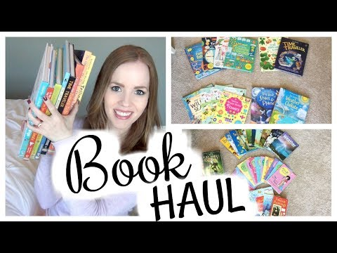 GINORMOUS KIDS' BOOK HAUL! 📚 40+ BOOKS! // REFERENCE, CHAPTER BOOKS & MORE!