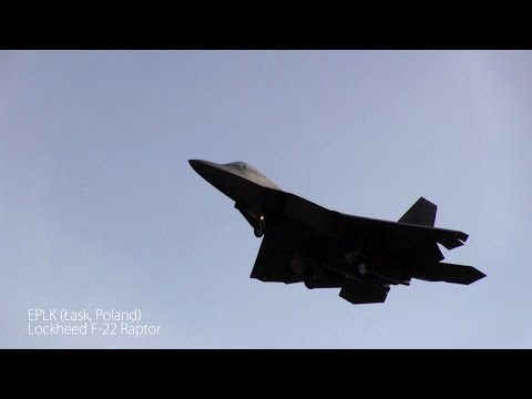 Lockheed F-22 Raptor first time in Poland, Łask