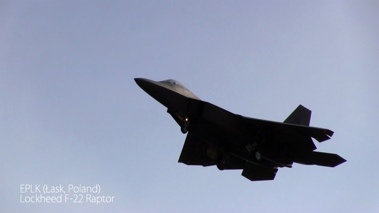 Download Lockheed F-22 Raptor first time in Poland, Łask