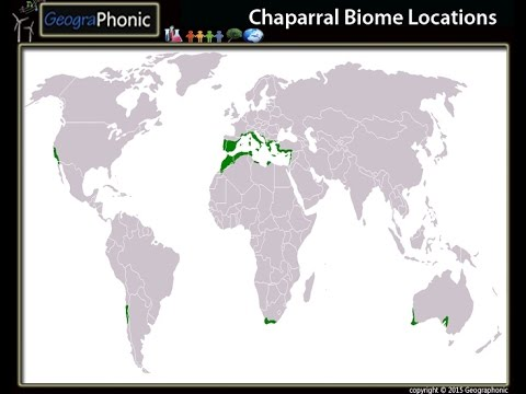 Chaparral Biome Locations, hot dry summers, wet winters