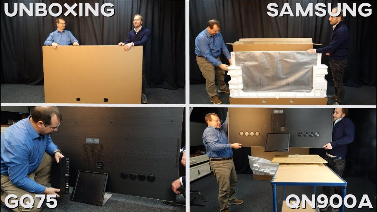 Unboxing: Samsungs brandneuer Mini-LED TV GQ75QN900A