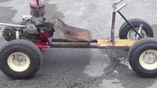 Homemade shifter kart clutch testing