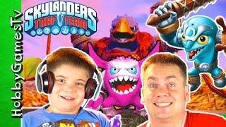 Skylanders Trap Team Enigma, Fizz Pop, Fling Kong, Flip Wreck Coocoo Clocker by HobbyGamesTV