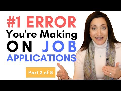 #1 Error You're Making On Job Applications - Part 2 of 8
