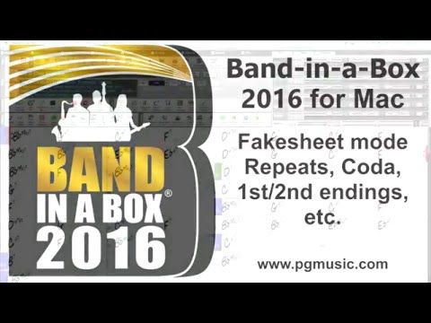 Band-in-a-Box®  for Mac - Fake Sheet Mode, Repeats, 1st/2nd Endings, Codas, etc.