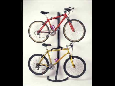 Racor Pro Gravity Freestanding Bike Stand Hanging Bike Rack Two