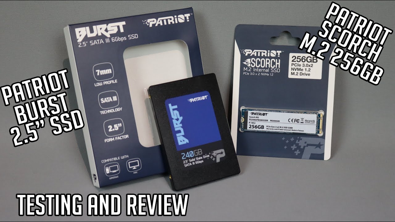 PATRIOT BURST & SCORCH SSD – test and review