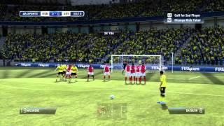 FIFA 12 - Dipping Free Kick - Free Kick Tutorial 1