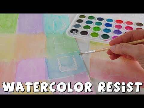 watercolor-crayola-resist-painting-|-easy-arts-and-crafts-|-how-to-for-kids-|-the-amy-jo-show-crafts