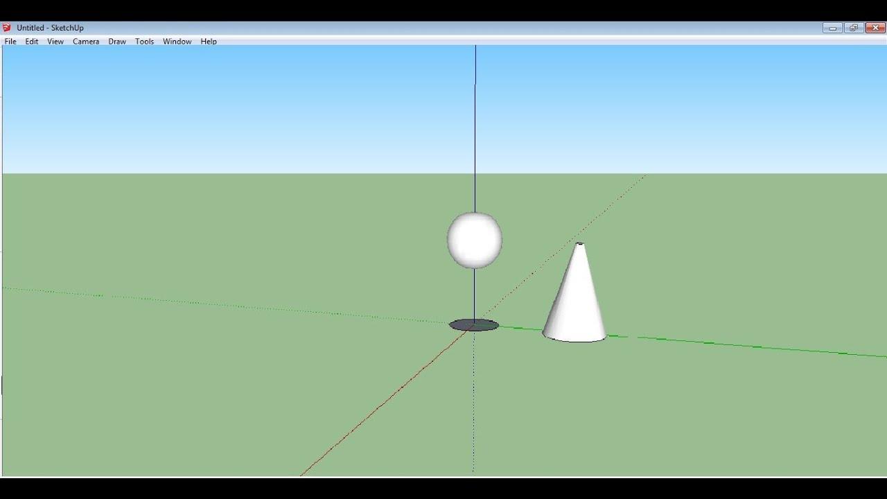 Como hacer una esfera y un cono en sketchup 123vid for Como puedo hacer un cono