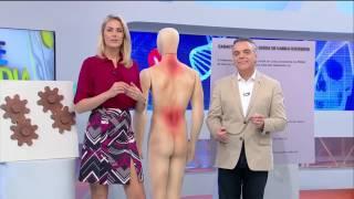 Tensão costas dor perna nas muscular