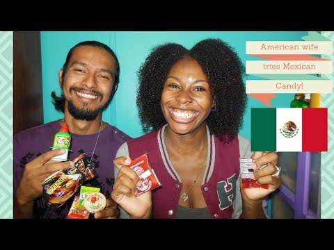 American wife tries Mexican candy| Interracial family| biracial family