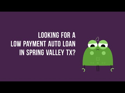 Zero Down Auto Financing in Spring Valley TX Bad Credit or Good Credit