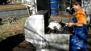 Preparing Holiday Turkey From Cage to Ice Chest