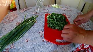 Зеленый лук на зиму / Заготовки