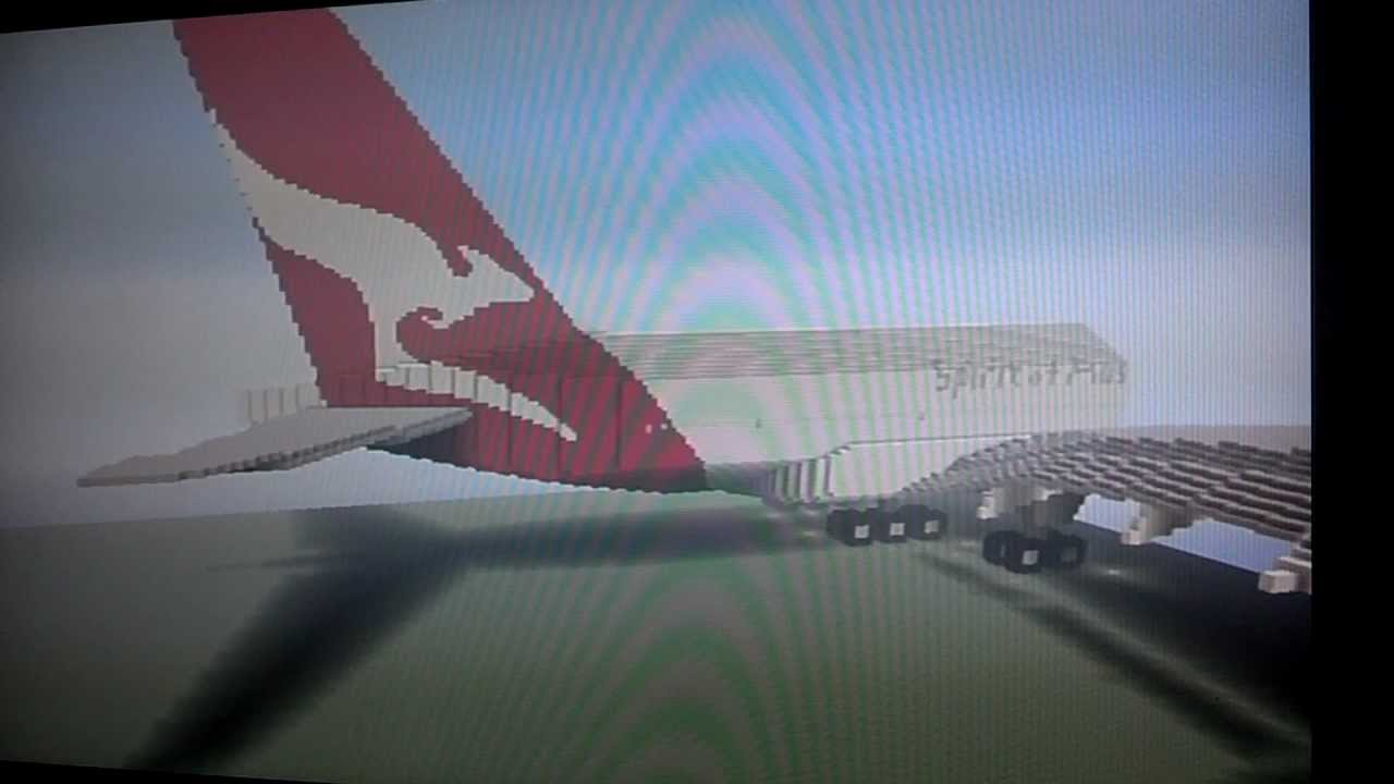 Minecraft Qantas Airlines - Airbus A380 - YouTube