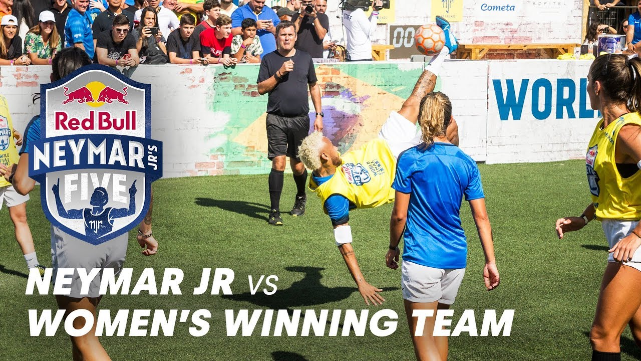 Neymar Jr Faces The Women's Winning Team | Red Bull Neymar Jr's Five 2019