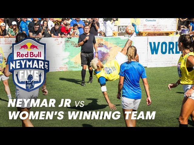 Neymar Jr Faces The Women's Winning Team   Red Bull Neymar Jr's Five 2019