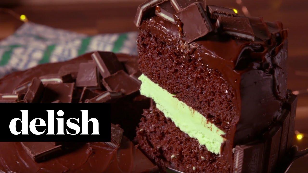 Andes Chocolate Cake Delish Youtube