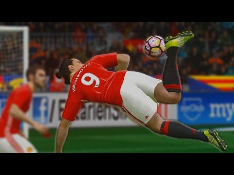 PES 2017 - Zlatan Ibrahimovic Goals & Skills HD 60FPS