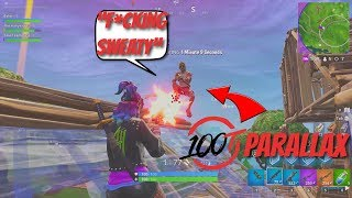 I ran into 100T Parallax and justfoxii... They Called Me What?! (Fortnite Battle Royale)