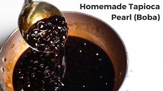Cách Làm Trân Châu Đường Đen Chi Tiết | Homemade Tapioca Pearl (Boba)