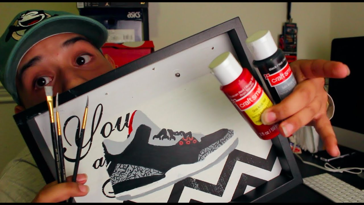 & How To Make Your Own Sneaker Wall Art For Cheap !! - YouTube
