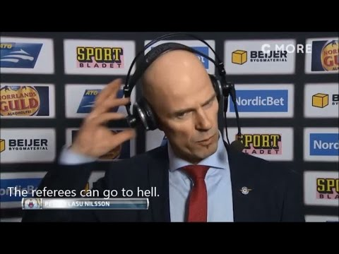 """Luleå-coach Nilsson gut furious over a disallowed goal: """"The referees can go to hell"""" - TV4 Sport"""