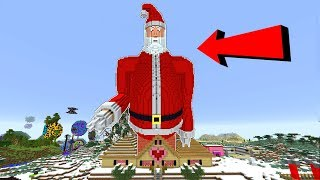MEGA SANTA TAKES OVER MINECRAFT!!!