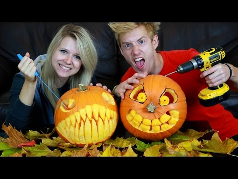 ULTIMATE PUMPKIN CARVING CHALLENGE | WHO WON?