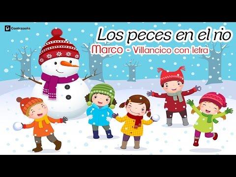 Los Peces en el Rio, Villancico con Letra Navidad, Español Feliz Navidad 2018, Noel, Niños Latinos