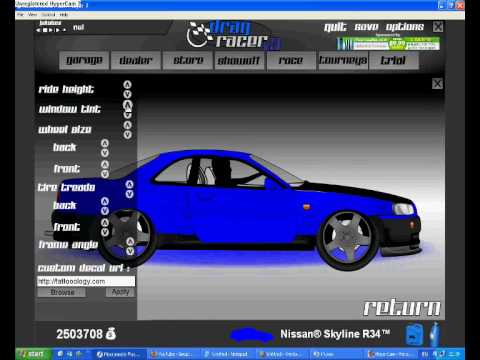 Drag racer v3 a nissan skyline change and race part1