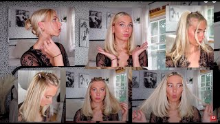 90s inspired hairstyles for short hair// fast and easy