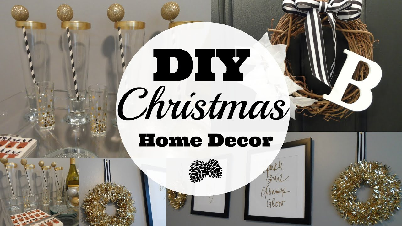 Diy christmas home decor youtube for Home decorations youtube