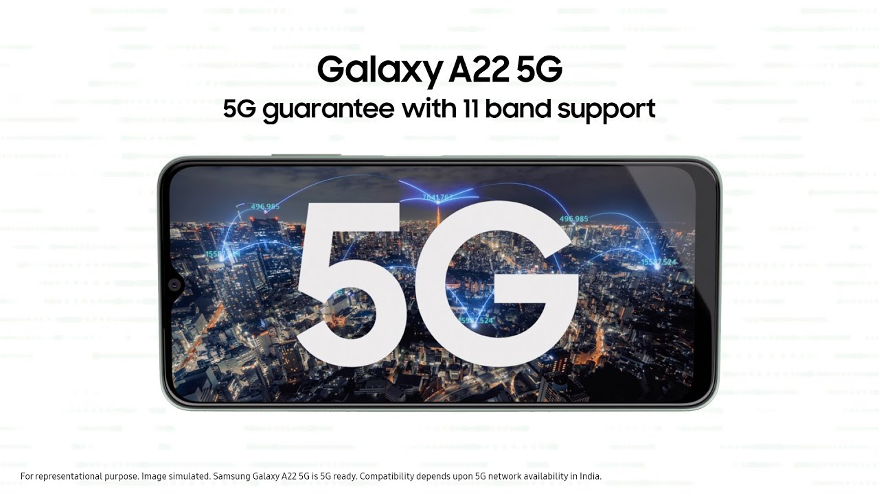 Samsung #GalaxyA225G. Guaranteed 5G access with 11 band support.