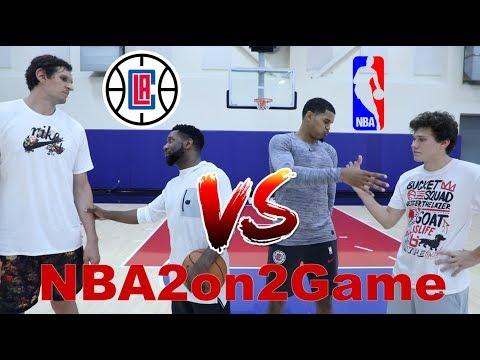 NBA 2 vs 2 Tobias Harris, Boban Marjanović (Los Angeles Clippers) and Jesser