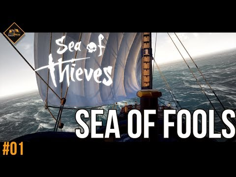 Sailing the Sea of Fools in Sea of Thieves co-op multiplayer gameplay part 1