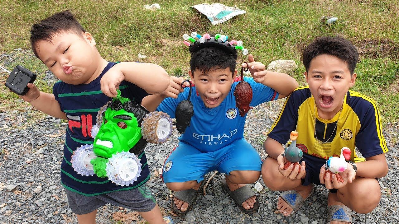 Trò Chơi Hulk Car Phiêu Lưu Ký ❤ ChiChi TV ToysReview ❤ Đồ Chơi Nhạc Thiếu Nhi Trẻ Em