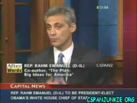 "Rahm Emanuel calls for ""Universal Service"" from all 18 - 25 year olds"