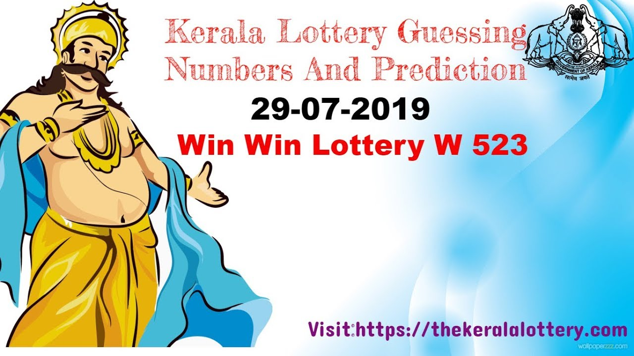 Kerala Lottery Guessing Numbers 29-07-2019 Win Win Lottery W 523
