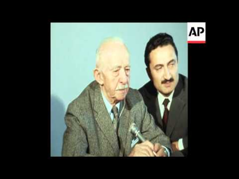 SYND 17-3-71 ANKARA SCENES AND INTERVIEW WITH INONU